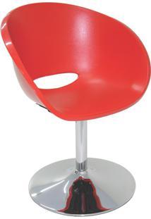 Cadeira Elena Base Central Vermelha