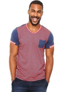 Camiseta Wrangler Listrada Coral