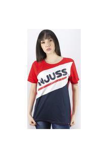 Camiseta Anjuss Manga Curta Vermelho