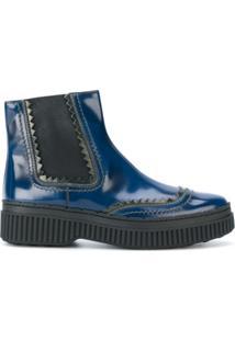 Tod'S Bota Chelsea De Couro - Azul