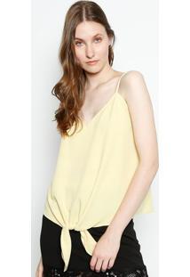 Regata Lisa Com Amarração - Amarelo Clarocanal