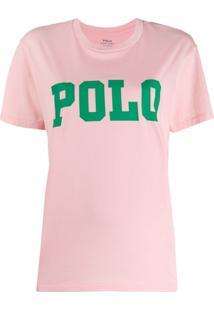 Polo Ralph Lauren Camiseta Com Logo - Rosa