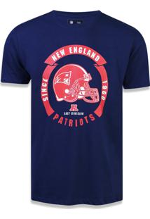 Camiseta New Era Regular New England Patriots Marinho
