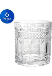 Conjunto 6 Copos De Vidro Brand 325Ml - Bon Gourmet - Transparente