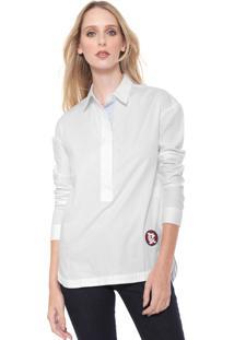 Camisa Calvin Klein Logo Bordado Branca