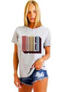 Camiseta Joss Feminina Estampada Women - Feminino-Mescla