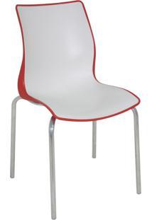 Cadeira Maja Vermelha E Branca Tramontina