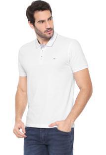 Camisa Polo Aramis Reta Pespontos Branca