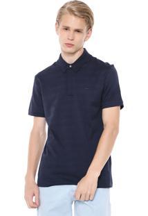 Camisa Polo Lacoste Slim Textura Azul-Marinho