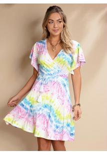 Vestido Transpassado Tie Dye