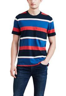 Camiseta Levis Sunset Pocket Multicolor - Masculino-Azul