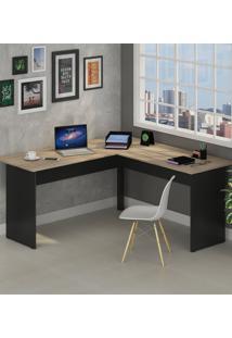 Mesa De Escritório Em L 1600X1600 Calvi/Preto