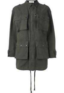 Faith Connexion 'Have Fun' Military Jacket - Verde