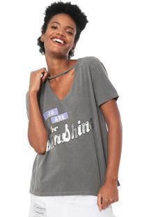 Camiseta Oh Boy Foil Cinza
