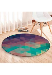 Tapete Love Decor Redondo Wevans Geometric Color 84Cm