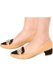 101e14399 R$ 139,90. Dafiti Mocassim Dafiti Shoes Salto Grosso Bege