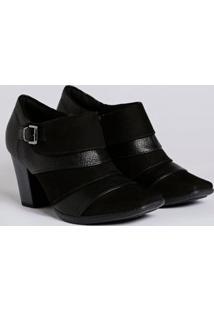 Bota Ankle Boot Feminina Piccadilly Preto