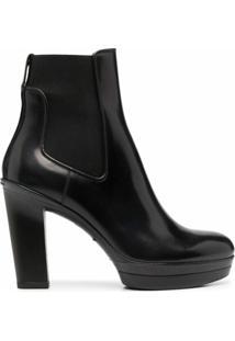 Santoni Ankle Boot Com Salto - Preto