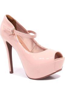 a81436d811 Sapato Noiva Salto Alto feminino. Sapato Bebecê Peep Toe Meia Pata Noivas