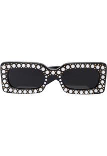 ... Gucci Eyewear Óculos De Sol  Hollywood Forever  Com Esferas Peroladas -  Preto ddb1c435e1