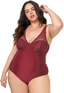 Body Calvin Klein Underwear Renda Vinho