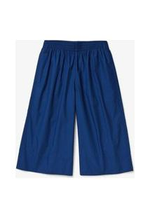 Calça Lacoste Em Popeline Azul