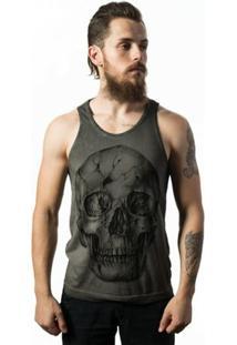 Camiseta Estonada Skull Lab - Masculino