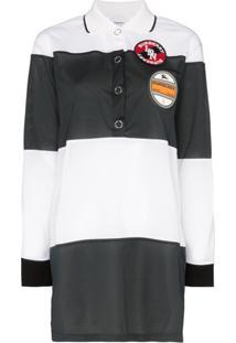 Burberry Camisa Polo Com Mesh - Branco