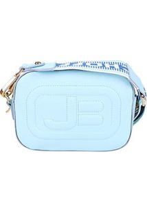 Bolsa Couro Jorge Bischoff Napa New Sea Feminina - Feminino-Azul Claro