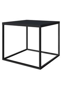 Mesa Centro Cube Preta Base Aco Preta 0,43 Cm (Alt) - 59062 59062
