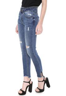 c16b7cb0f ... Calça Jeans Ellus Skinny Piercing Azul