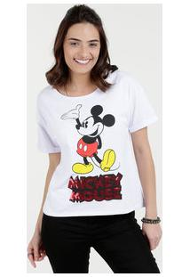 f432e12be Marisa. Blusa Feminina Mickey Paetês Manga Curta Disney