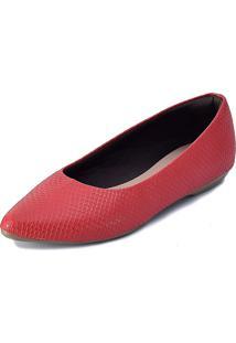 Sapatilha Promocional Scarpan Calçados Finos Cobra Vermelha
