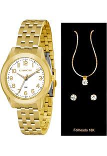 Kit Relógio Feminino Lince Lrg4313L K129B2Kx