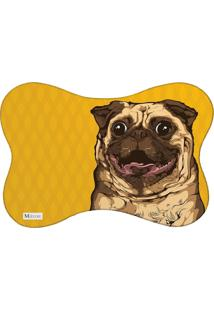 Tapete Pet Mdecore Pug Amarelo 46X33Cm