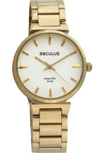 Relógio Seculus 28943Lpsvda1 Dourado