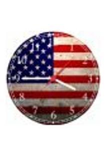 Relógio De Parede Bandeira Dos Estados Unidos Países Decorações