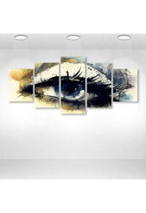 Quadro Decorativo - Eye Art - Composto De 5 Quadros - Multicolorido - Dafiti