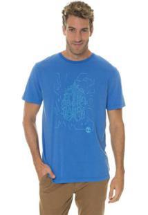Camiseta Timberland Sunny Town Azul - Masculino-Azul