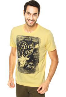 Camiseta Colcci Rock Yeah Amarela