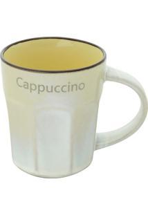 "Caneca Allure ""Cappuccino""- Branca & Amarela- 270Ml"