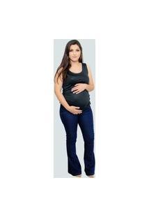 Calça Jeans Flare Anne - Azul Escuro