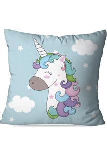 Capa De Almofada Decorativa Unicorn Cute 45X45Cm