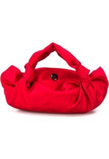 The Row Bolsa Tote Twisted Silk Mini - Vermelho