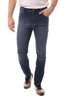 Calça Jeans Eventual Slim Fit Masculina - Masculino-Azul