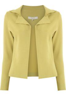 Fillity Blazer Liso Texturizado - Amarelo