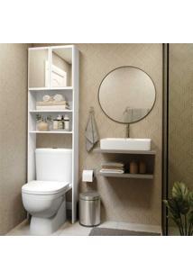 Armário Banheiro P/ Vaso San. Espelho Aspen Plus Multimóveis