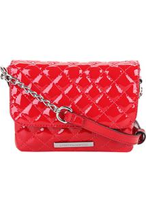 Bolsa Mini Bag Em Verniz Loucos & Santos Matelassê Feminina - Feminino-Vermelho