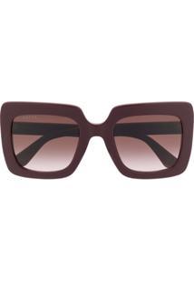 Gucci Eyewear Square Frame Sunglasses - Vermelho
