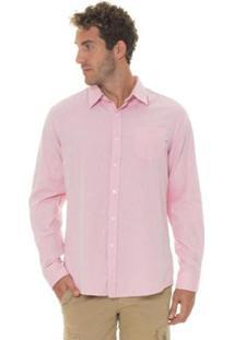 Camisa Timberland Pleasant River Oxford Masculina - Masculino-Rosa